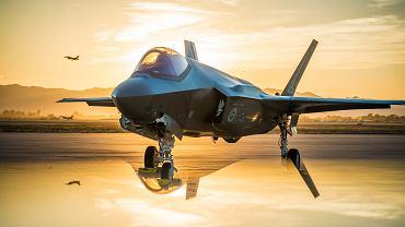Myśliwiec piątej generacji F-35. Luke Air Force Base, Arizona, USA, 27 czerwca 2018