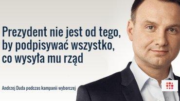 Andrzej Duda o Bronisławie Komorowskim