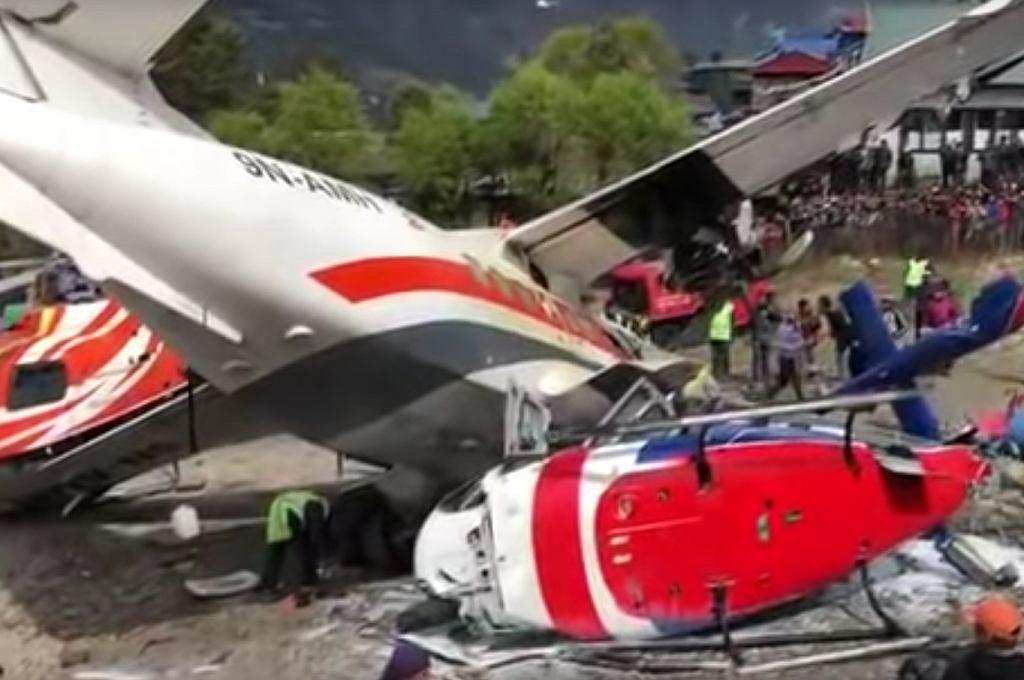 Nepal. Katastrofa samolotu