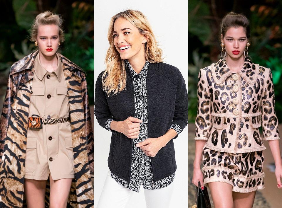 Dolce&Gabbana w kolekcji SS2020 postawili na motywy safari i wzór panterki / Żródło: ImaxTree