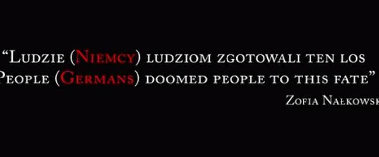 """IPN """"poprawił"""" słynny cytat z """"Medalionów"""" Nałkowskiej. Dopisał Niemców na czerwono"""
