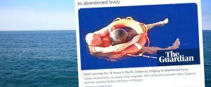 Marynarz przez 14 godzin dryfował na Oceanie Spokojnym. Uratowała go porzucona boja