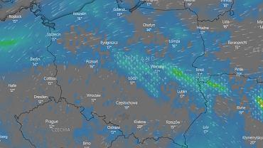 IMGW ostrzega przed burzami i intensywnym deszczem