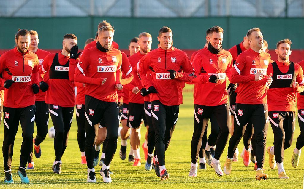 Trening piłkarskiej reprezentacji Polski