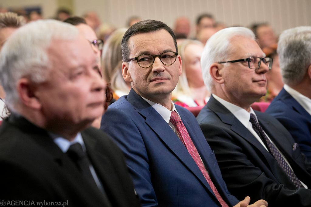 Premier Mateusz Morawiecki i prezes Jarosław Kaczyński