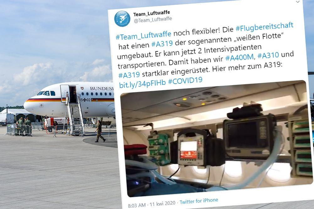Niemcy przekształcili samolot na latający szpital