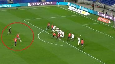Kapitalna bramka w hicie Ligue 1. Napastnik Lille idealnie huknął z rzutu wolnego [WIDEO]