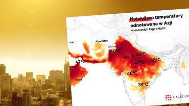 W niektórych częściach Azji jest gorąco jak w piekle