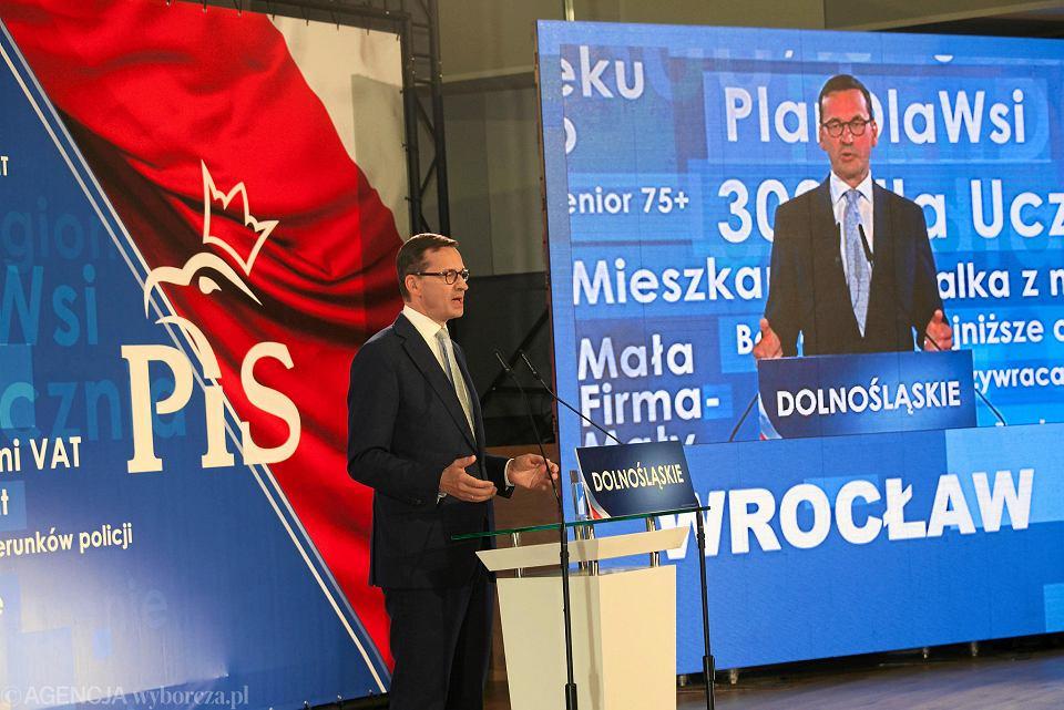 Mateusz Morawiecki na konwencji PiS we Wrocławiu we wrześniu 2018 r.