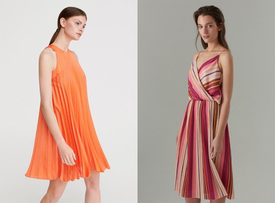 Plisowane sukienki na lato