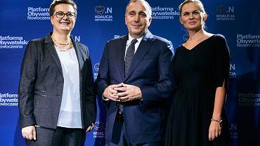 Katarzyna Lubnauer, Grzegorz Schetyna oraz Barbara Nowacka