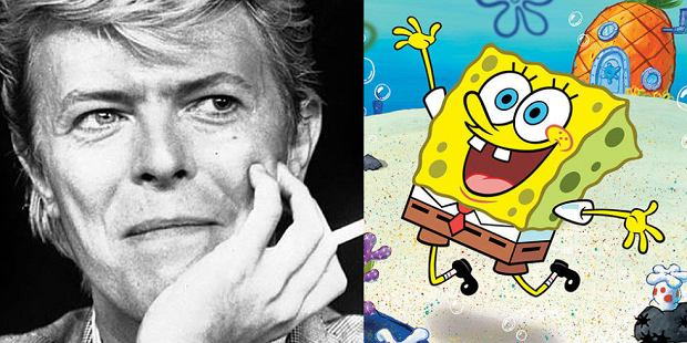 Dawid Bowie w musicalu o Spongebobie