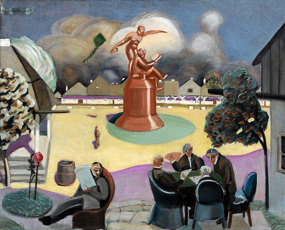 R. Malczewski, Rynek w Zakliczynie, 1924 / MUZEUM NARODOWE W SZCZECINIE