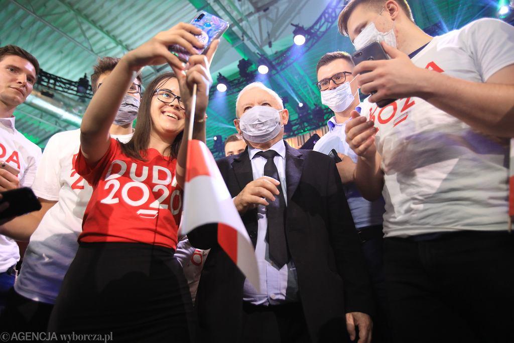 24.06.2020, Lublin, Jarosław Kaczyński podczas Konwencji Forum Młodych PiS