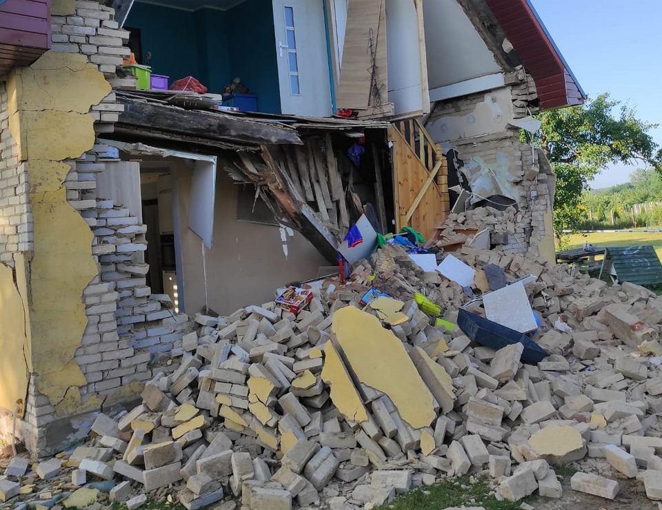 Sosnowo w województwie zachodniopomorskim. Dom nowożeńców po wybuchu