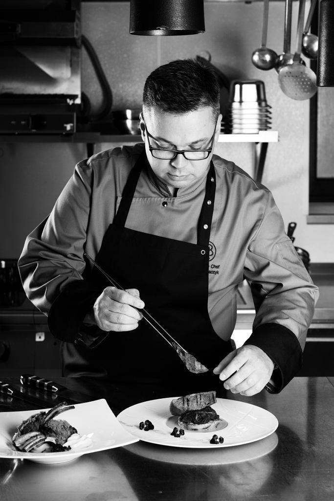 Michał Tkaczyk, szef kuchni restauracji Marconi w Hotelu Bristol / mat.pras.