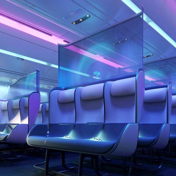 Wnętrze samolotu gotowe na epidemię