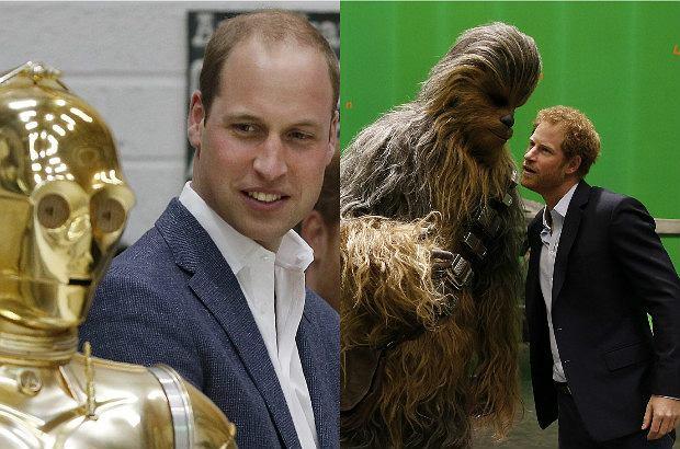 Książę William i książę Harry na planie