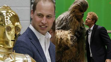 """Książę William i książę Harry na planie """"Gwiezdnych Wojen"""""""