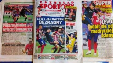 Polskie gazety po meczu Bayernu z Atletico w Lidze Mistrzów