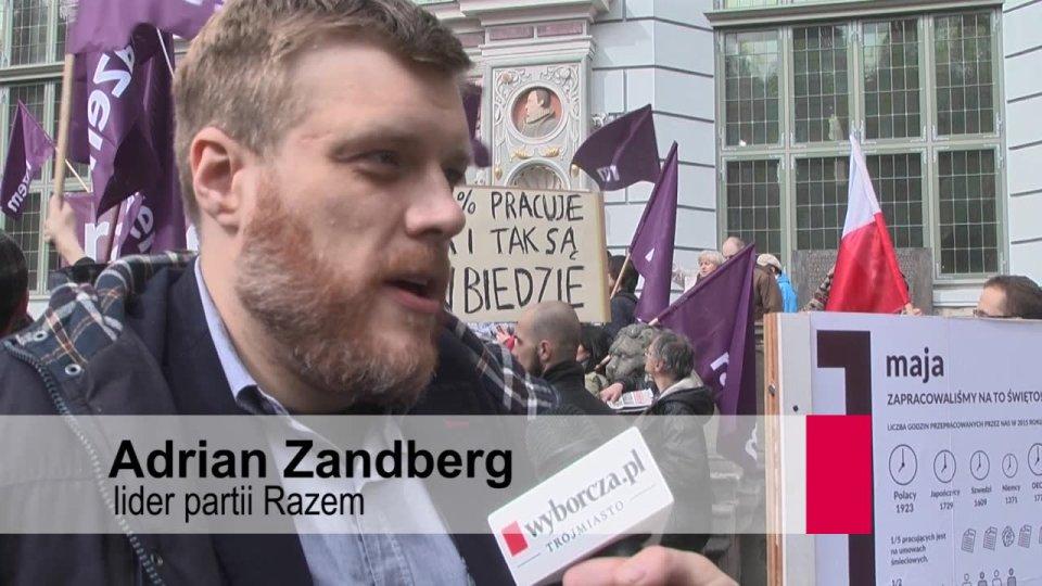 30adfbf2e7ff1b Partia Razem obchodzi 1 Maja. Zandberg: Robotnicy w 1980 roku nie walczyli  o umowy śmieciowe