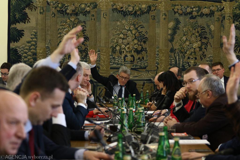 Posiedzenie Komisji Sprawiedliwości i Praw Człowieka 21 marca