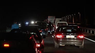Korek na autostradzie. Zdjęcie ilustracyjne