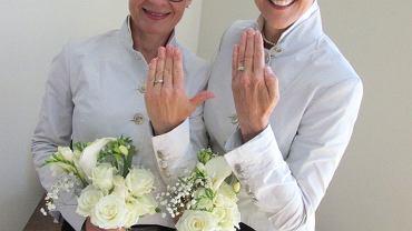 Jolanta Sacewicz z żoną