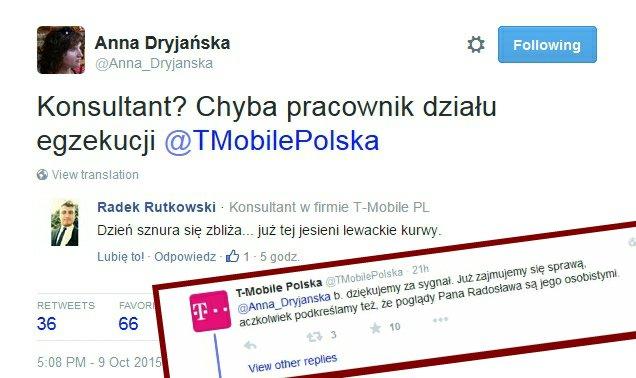 Wpis Anny Dryjańskiej na Twitterze