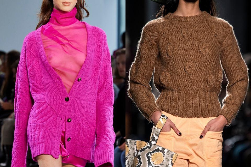 Swetry z grubym splotem na zimę