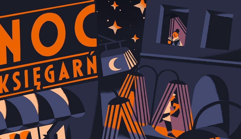 fragment plakatu Nocy Księgarń