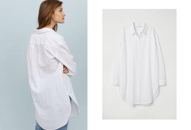 Długa koszula H&M wyprzedaż - 106,90 zł