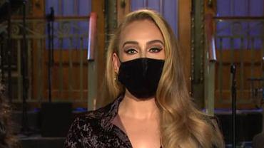 """Poznajecie? To Adele w zapowiedzi """"SNL""""! Opięta sukienka, a do tego nowa fryzura. Fani prawie wybaczyli brak nowej płyty"""