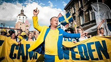 Czerwiec 2017. Kibice ze Szwecji w centrum Lublina. Przyjechali na mecz w ramach EURO U-21