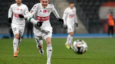 Zawisza - Śląsk 0:1. Sebastian Mila