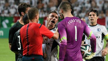 W samej końcówce meczu, po faulu na zawodniku gospodarzy, doszło do spięcia między piłkarzami Legii i Celtiku