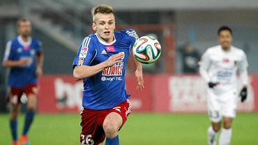Bartosz Szeliga w meczu Piast Gliwice - Pogoń Szczecin 1:0