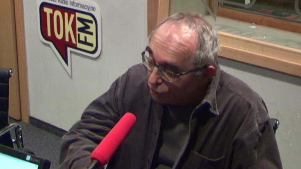 Aleksander Smolar w studiu Radia TOK FM