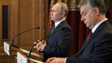 Konferencja prasowa z udziałem Władimira Putina i Viktora Orbana