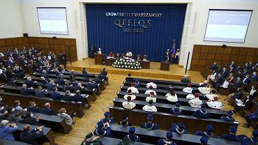 Przerwanie wystąpienia szefowej kancelarii prezydenta na inauguracji roku akademickiego na UW.