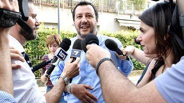 Matteo Salvini w Mediolanie, 26.05.2018.