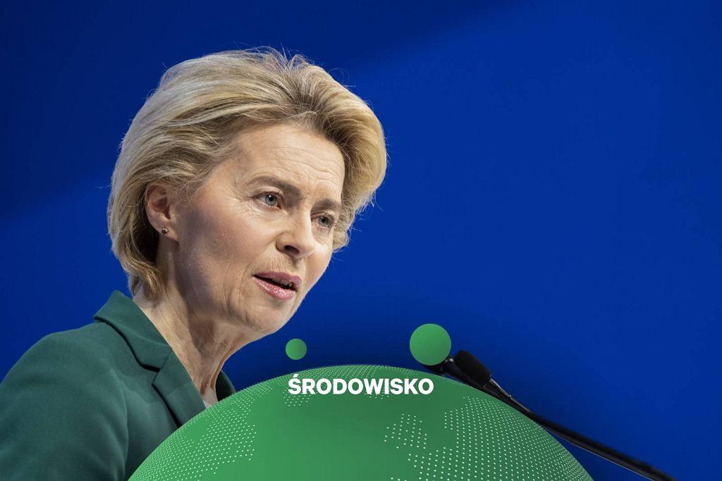 Ursula von der Leyen podczas Forum Ekonomicznego w Davos.
