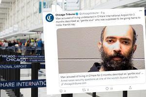 Pasażer przez trzy miesiące niezauważony mieszkał na lotnisku. Bał się wrócić do domu
