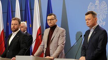 Konfetrencja prasowa w Warszawie w sprawie koronawirusa