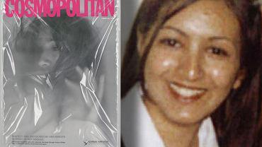 """Szokująca okładka brytyjskiej edycji topowego magazynu z sektora wysokonakładowej prasy kobiecej: dziewczyna duszona folią. Z lewej ofiara """"honorowego"""" zabójstwa, uduszona przez rodziców Shafilea Ahmed"""