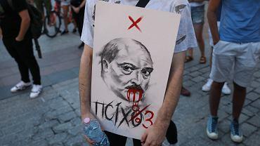 1Manifestacja solidarnosci z Bialorusia w Krakowie