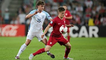 Radosław Murawski podczas meczu Polska - Anglia na młodzieżowych mistrzostwach Europy w 2017 roku