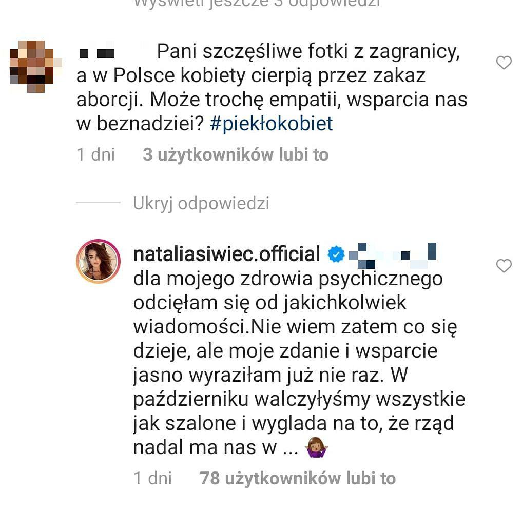 Natalia Siwiec się tłumaczy