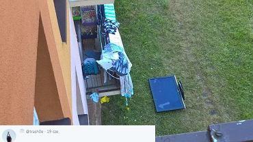 Mieszkaniec Piły wyrzucił przez okno telewizor