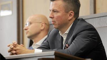 """Marek Falenta i Krzysztof Rybka podczas rozprawy w sprawie tzw. """"afery podsłuchowej"""""""